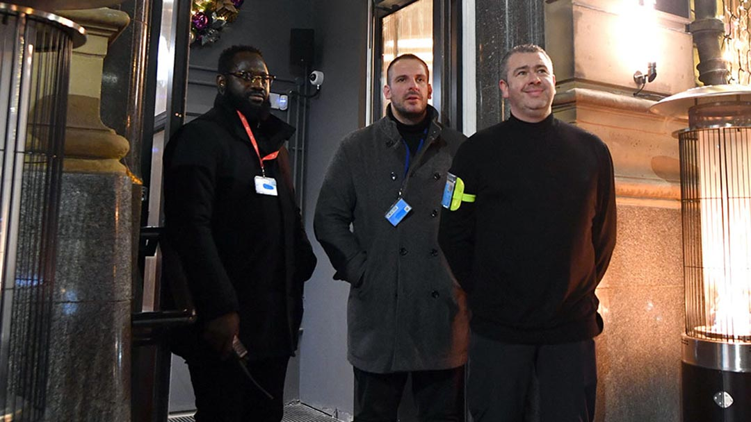Capricorn Security door-supervision staff on duty in Manchester