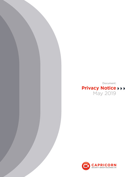 Capricorn Security: Privacy Notice