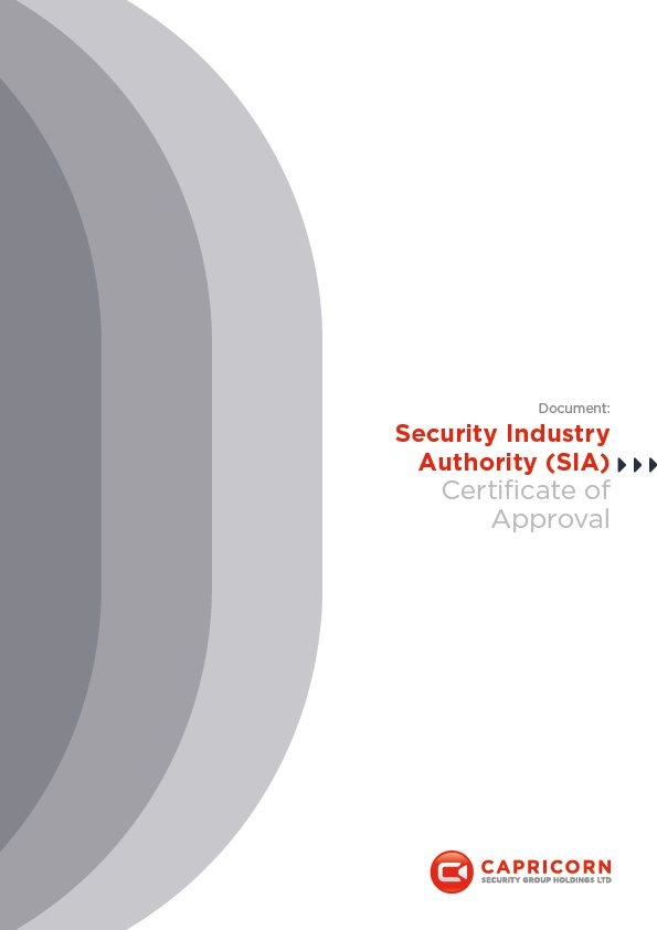 Capricorn Security SIA Certificate of Approval