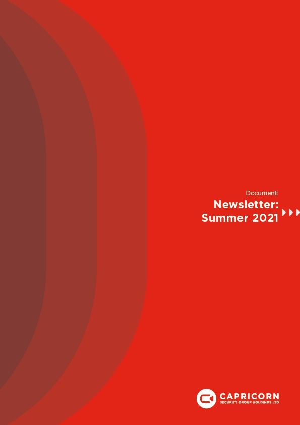 Capricorn Security Newsletter Cover - Summer 2021
